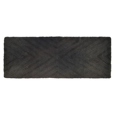 Textured Stripe Bath Rug Runner (23 X58 )Railroad Gray - Project 62™ + Nate Berkus™