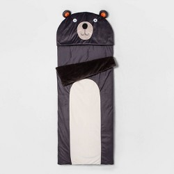 Bear Character Sleeping Bag Gray - Pillowfort™