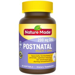 Nature Made Postnatal + DHA Softgels - 60ct
