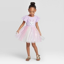 Toddler Girls' Tulle Sequin Bunny Dress - Cat & Jack™ Purple