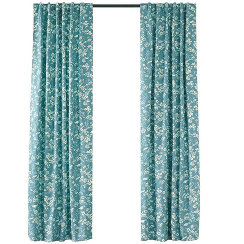 """Plow & Hearth - Floral Rod-Pocket Insulated Curtain Panel 42"""" W x 96"""" L - image 1 of 2"""