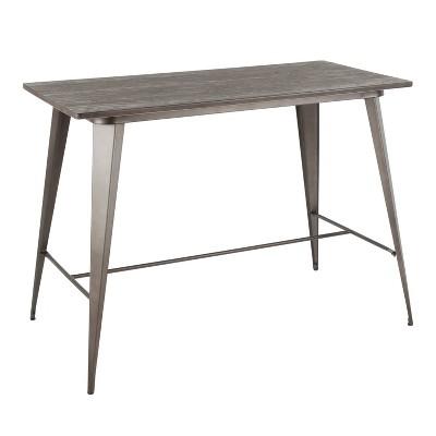 Oregon Industrial Counter Table Antique/Espresso - LumiSource