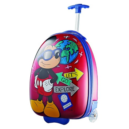 "American Tourister Disney Mickey Mouse 18"" Carry on Hardside Suitcase - image 1 of 6"