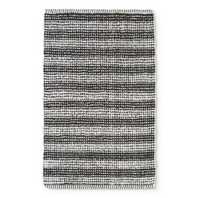32 x20  Woven Stripe Bath Rug Gray/White - Project 62™