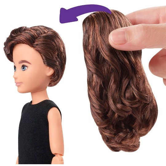 Creatable World Deluxe Character Kit - Chestnut Brown Wavy Hair image number null