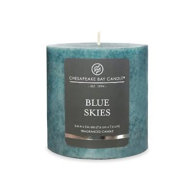3  x 3  Pillar Candle Blue Skies - Chesapeake Bay Candle