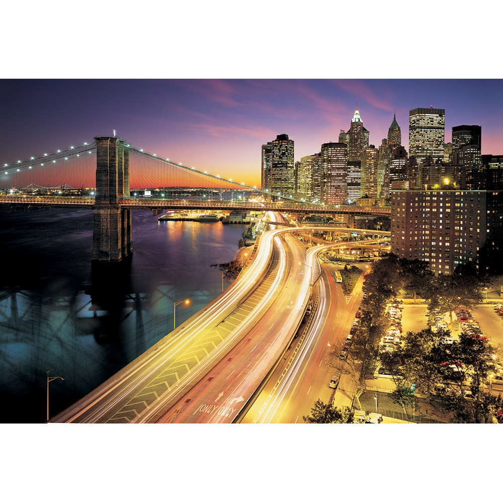 Image of Nyc Lights Wall Mural, Multicolored