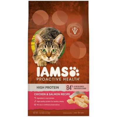 Iams Proactive Health High Protein Chicken & Salmon Recipe Adult Premium Dry Cat Food - 6lbs