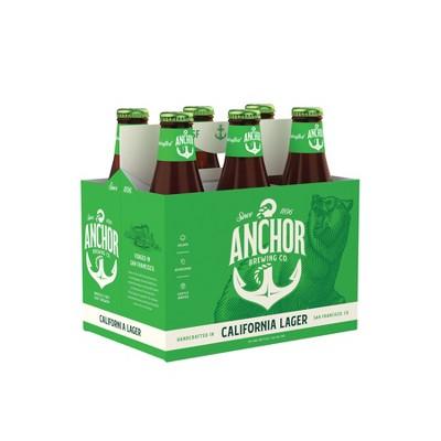 Anchor California Lager Beer - 6pk/12 fl oz Bottles