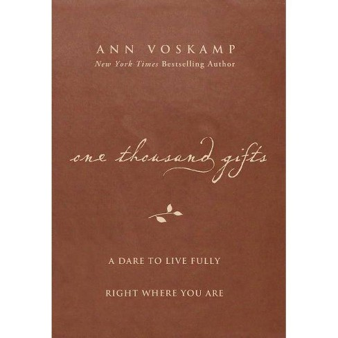 One Thousand Gifts - by  Ann Voskamp (Hardcover) - image 1 of 1