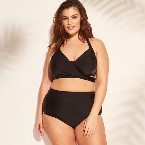 6b403950da3 Women's Plus Size High Waist Bikini Bottom - Kona Sol™ Black 16W/18W ...
