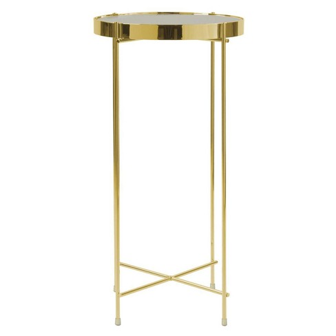 ritz tall side table gold urb space target. Black Bedroom Furniture Sets. Home Design Ideas