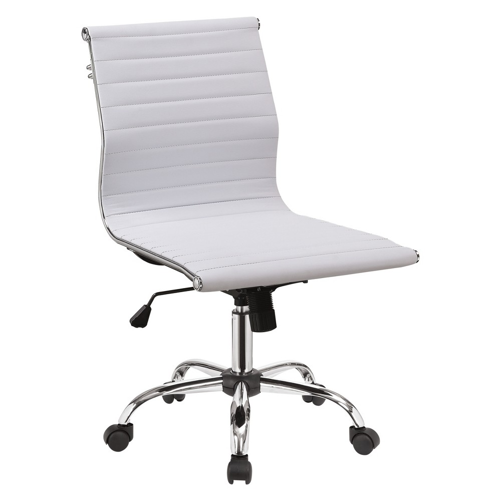 Iohomes Lukes Contemporary Leatherette Office Chair White - Homes: Inside + Out