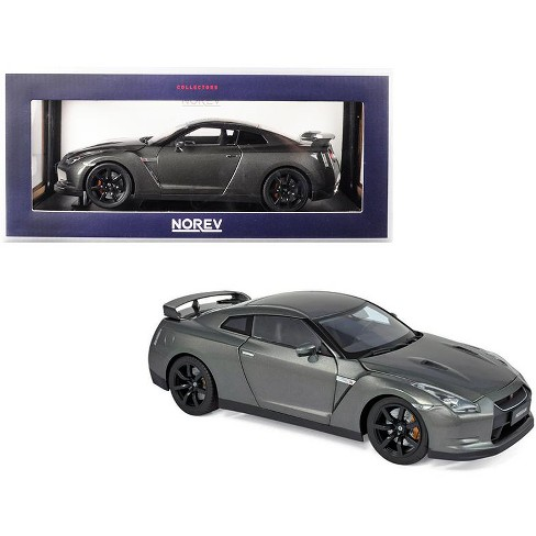 2008 Nissan GTR R-35 Metallic Dark Gray 1/18 Diecast Model Car by Norev - image 1 of 2