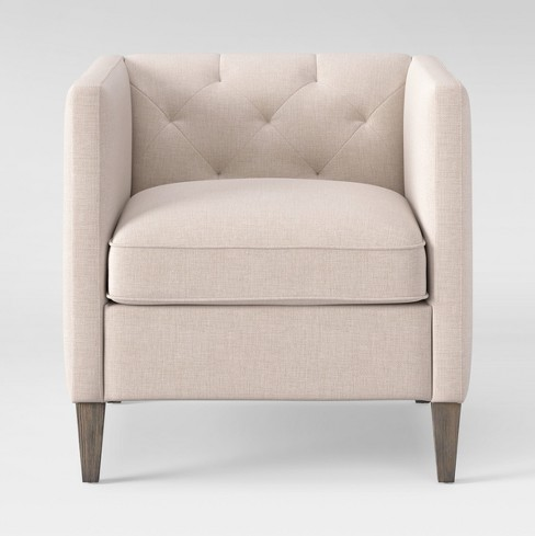 Holyoke Arm Chair Linen - Threshold™ - image 1 of 6