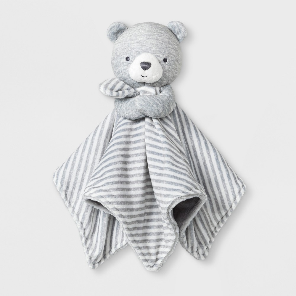 Baby's Bear Cuddle Plush Blanky - Just One You made by carter's Gray