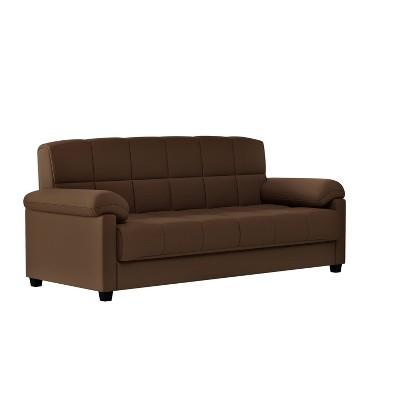 Maurice Microfiber Pillow Top Arm Convert a Couch Futon Sofa Sleeper -  Handy Living