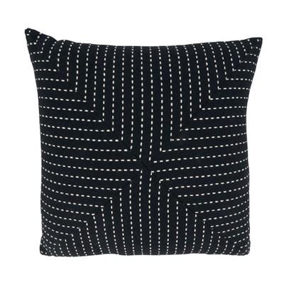 Stitched Design Square Pillow Cover - Saro Lifestyle