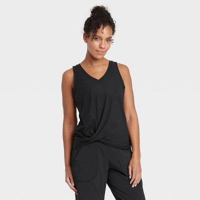 Women's Twist-Front Ribbed Tank Top - All in Motion™