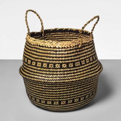 Palm Leaf Round Decorative Baskets Black - Opalhouse™