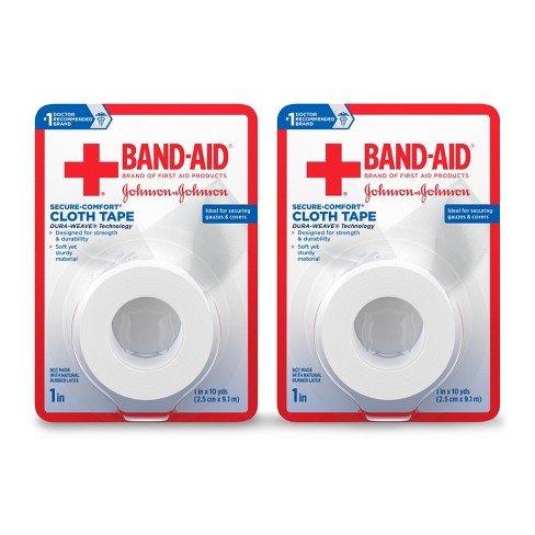 Band-Aid First Aid Small Cloth Tape-in - 2pk - image 1 of 9