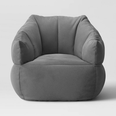 Structured Bean Bag Chair Gray - Room Essentials™