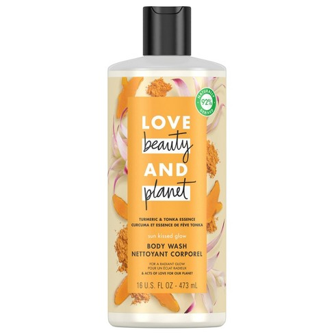 Love Beauty & Planet Turmeric & Tonka Essence Sun-Kissed Glow Body Wash Soap - 16 fl oz - image 1 of 4