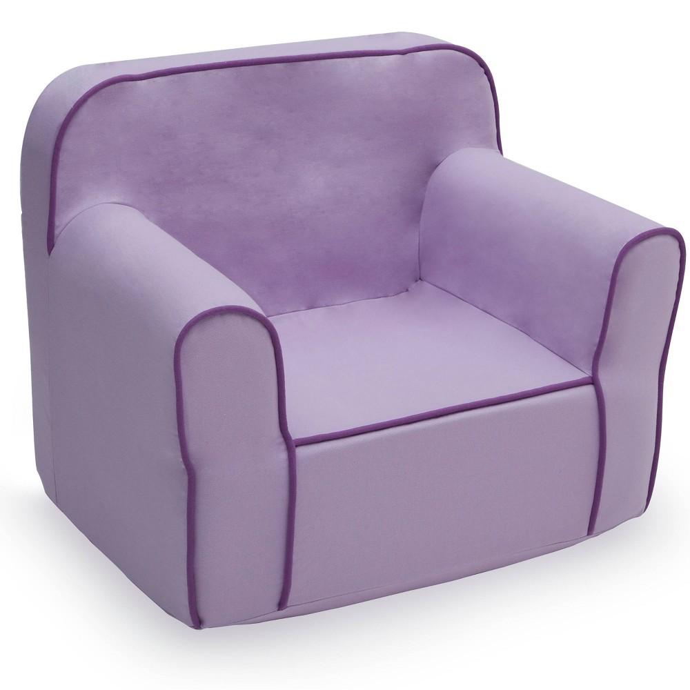 Image of Foam Snuggle Chair Purple - Delta Children