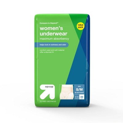 Incontinence Underwear for Women - Small/Medium - 32ct - up & up™