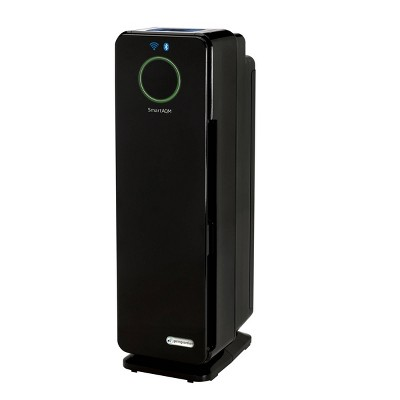 "GermGuardian 22"" CDAP4500BCA Smart Elite 4 in 1 True HEPA Air Purifier with UV Sanitizer Odor Reduction and WiFi Tower Black"