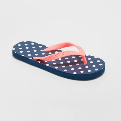 Girls' Mari Flip Flop Sandals - Cat & Jack™ Navy S