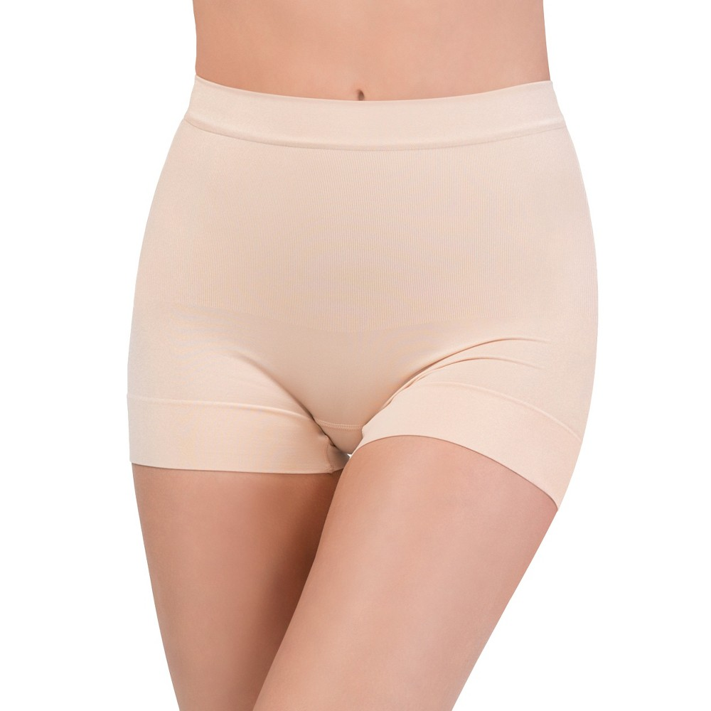 Image of Assets by Spanx Women's All Around Smoothers Seamless Shaping Girl Shorts - Beige Nude 1X, Women's, Size: 1XL