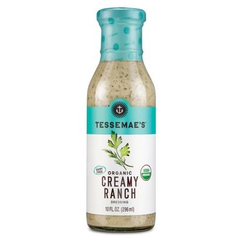 Tessemae's Organic Creamy Ranch Dressing - 10 fl oz - image 1 of 4