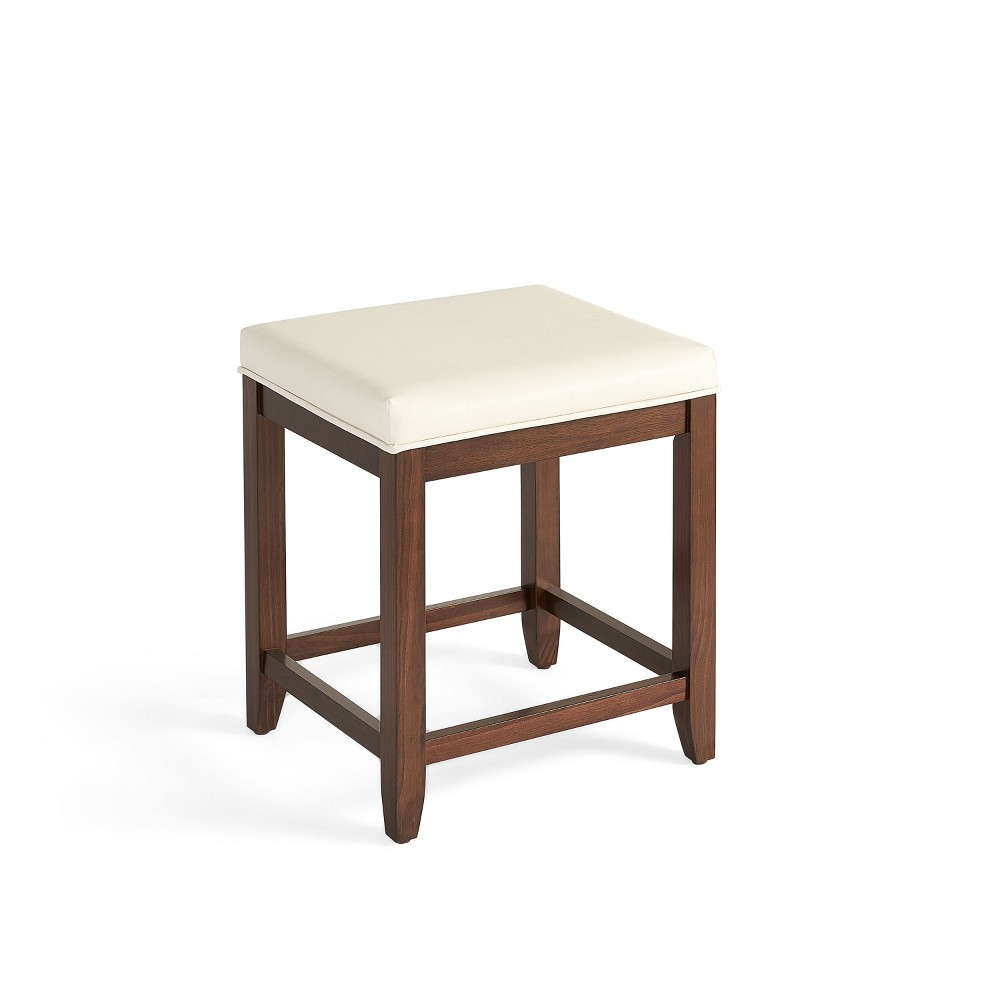 Vista Vanity Stool Mahogany (Brown)/White - Crosley