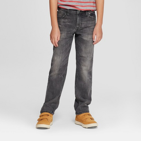 Boys' Straight Fit Jeans - Cat & Jack™ Gray - image 1 of 3