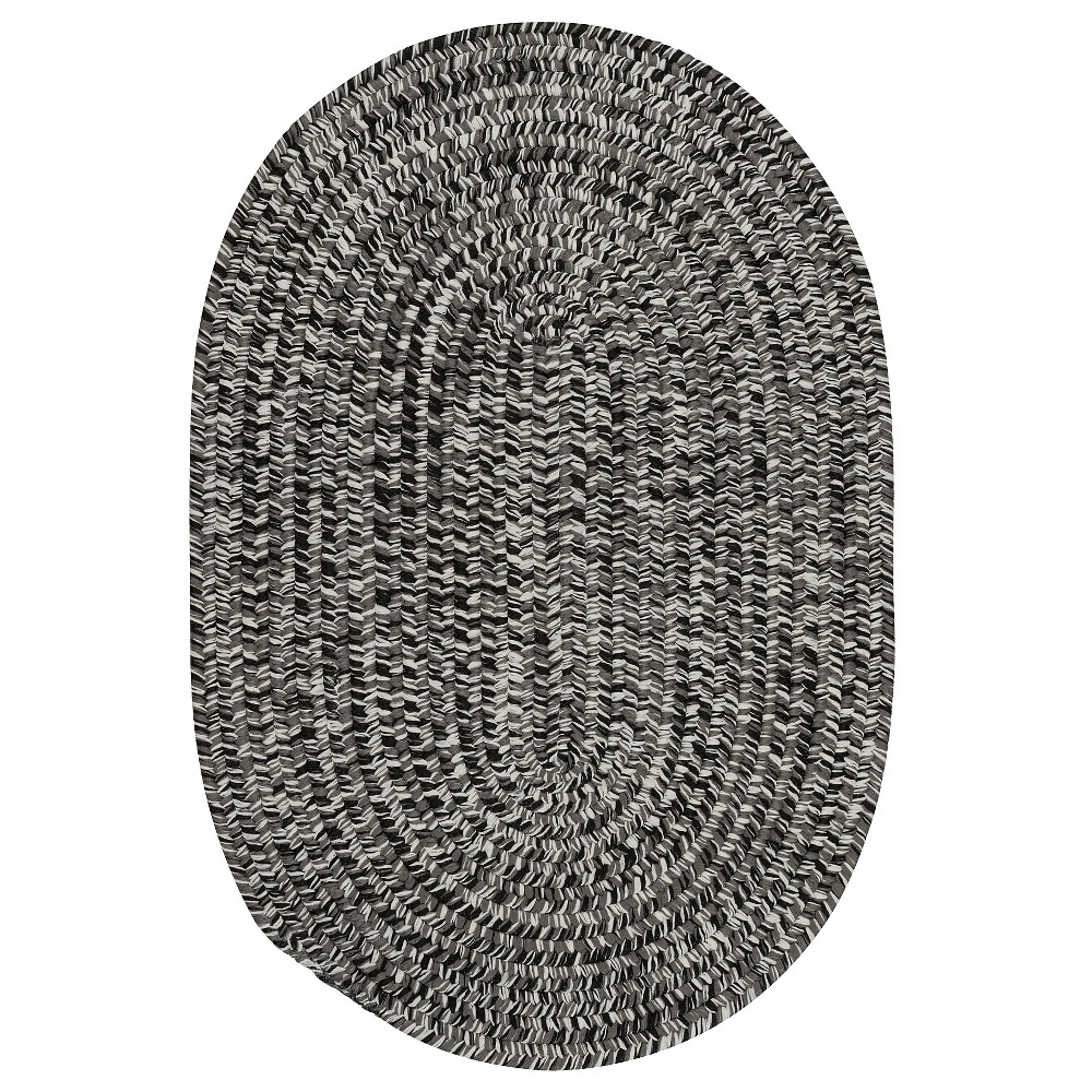 Image of 2'X3' Fleck Braided Oval Area Rug Black - Colonial Mills