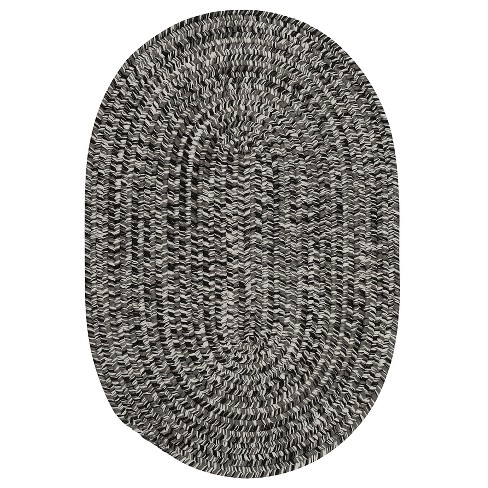 6'X9' Fleck Braided Oval Area Rug Black - Colonial Mills - image 1 of 3
