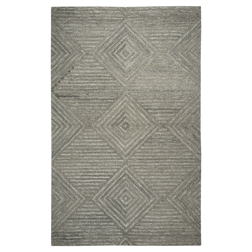 Geometric/Solid Rug - Gray - (3'X5') - Rizzy Home