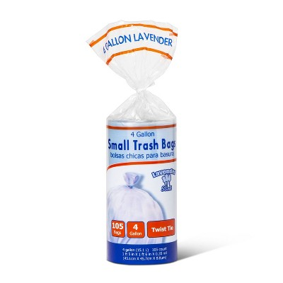 Twist Tie Lavender Scented Small Trash Bags - 4 Gallon - 105ct - up & up™