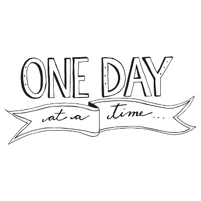 One Day Wall Decal - Black