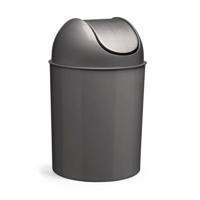 Umbra 2.6gal Mezzo Indoor Trash Can Nickel/Silver