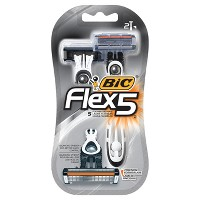 2-Count BIC Flex 5 Five Blade Disposable Razor