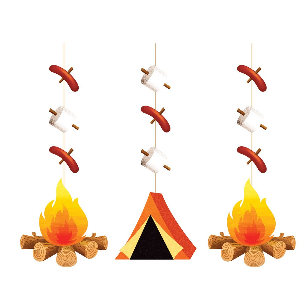 3ct Camping Hanging Cutouts