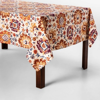 70 X52  Jacobean Tablecloth Ginger - Threshold™