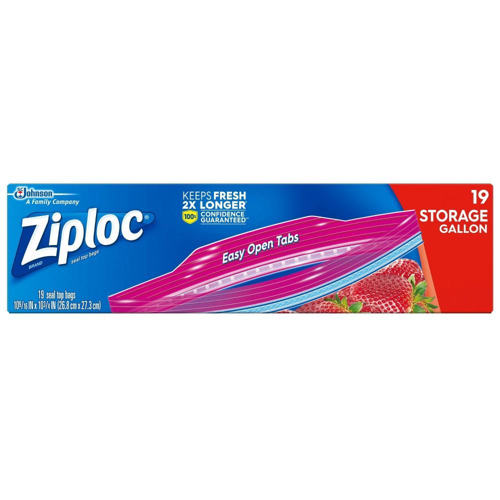 Ziploc Storage Bags Gallon - 19ct, Size: 1 Gallon (19 Count), Clear