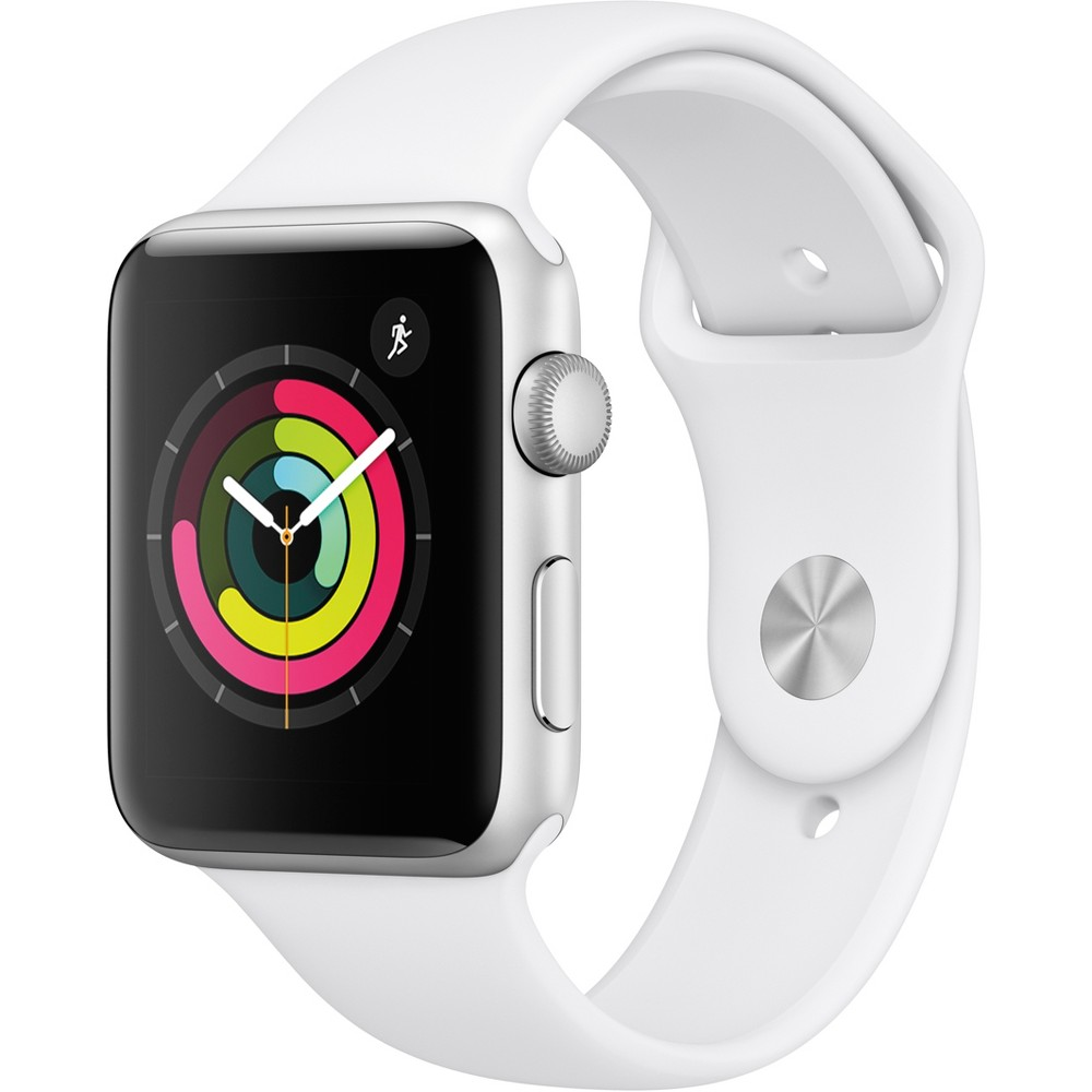 Apple Watch Series 3 Gps 42mm Silver Aluminum Case with Sport Band - White