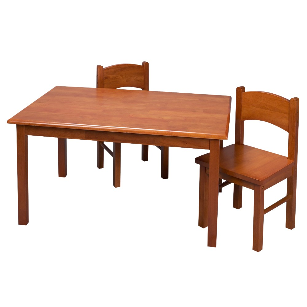 Image of Honey Rectangular Table and Chair Set 3-pc.