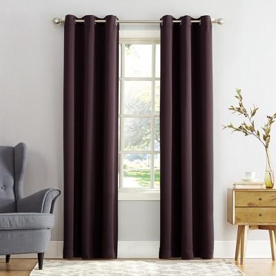 Kenneth Blackout Energy Efficient Grommet Curtain Panel Blackberry 40 x108  - Sun Zero