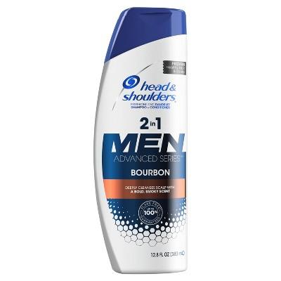 Head and Shoulders Advanced Series Bourbon 2-in-1 Anti-Dandruff Shampoo and Conditioner for Men - 12.8 fl oz