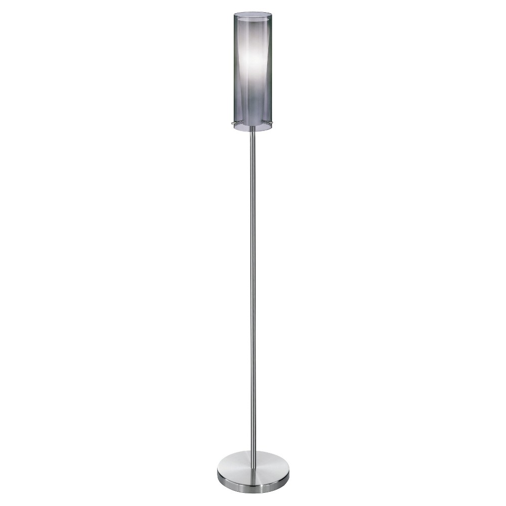 "Image of ""58"""" Pinto Negro Floor Lamp Matte Nickel - Eglo"""